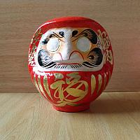 Daruma made at Takasaki, Japan: No 2 size